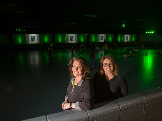 Rock N Roller Rink owners Shelley Rhames, left, and Linda Burgett have remade the facility into a family entertainment center.