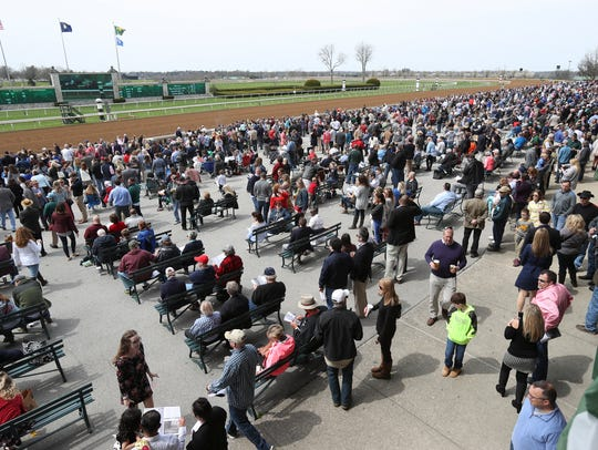 Racing fans show up for the opening day of the 2018 Keeneland spring meet. The iconic Lexington racetrack will host a music festival in August 2019.