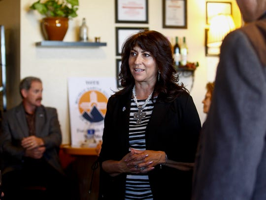 GOP lieutenant governor candidate Michelle Garcia Holmes says she will work closely with Steve Pearce, the presumed Republican candidate for governor, if both are elected in November.