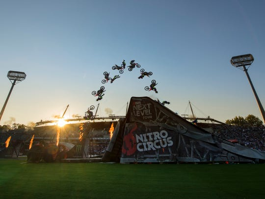 Nitro Circus performs in Australia, 2018