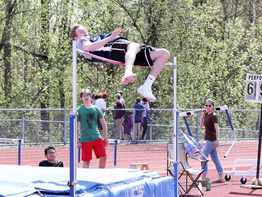 MMU's Tyler Muttilainen, seen at the Burlington Invitational earlier this month, owns the D-I state record in high jump (6-8.5).