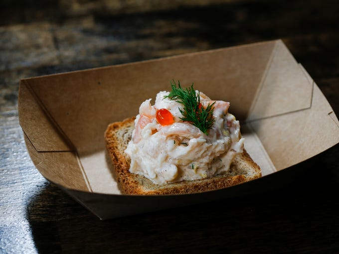 Shrimp Skagen at Oskar's Slider Bar on Thursday, June