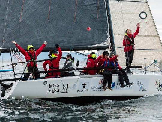 Team Sail Like a Girl, composed of eight women from