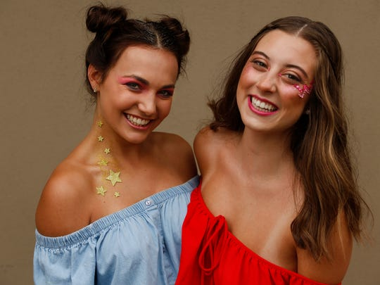 Caitlyn Metcalf and Madison Peyton models Forecastle