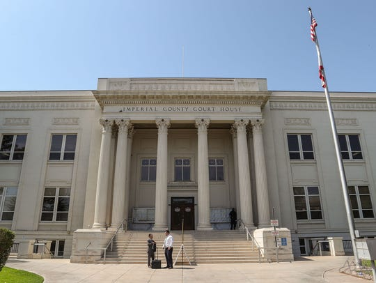 Imperial County Superior Court in El Centro, seen on