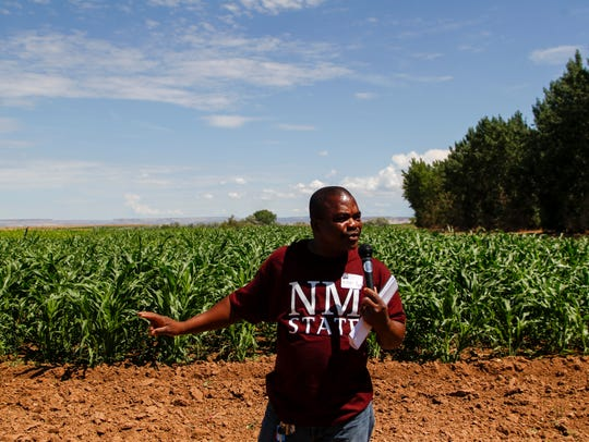 Koffi Djaman, an assistant professor in agronomy at