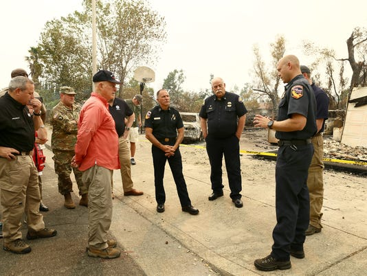 Carr Fire - Gov. Brown meets with Fire and Emergency Leaders in Shasta County.