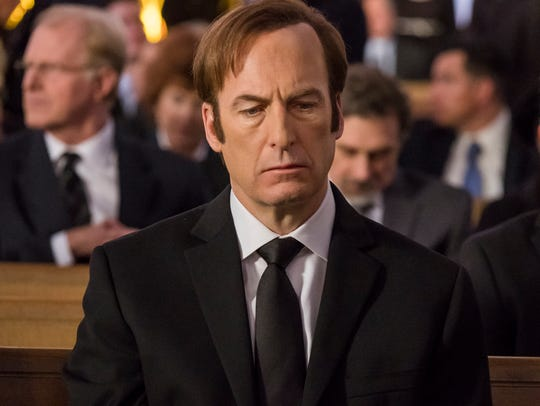 Disgraced attorney Jimmy McGill (Bob Odenkirk) in the fourth-season premiere of 'Better Call Saul.'