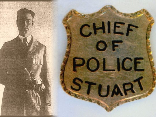 Stuart Chief of Police O.B. Padgett in 1925.