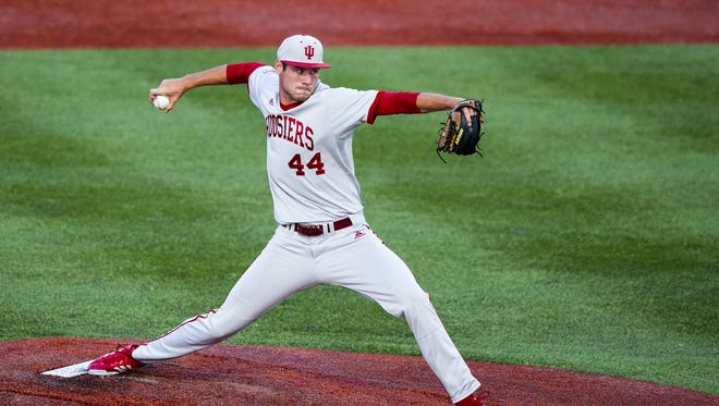 Indiana University's Jake Kelzer was drafted in the 18th round by the Philadelphia Phillies on Friday during Day 3 of the MLB Draft.