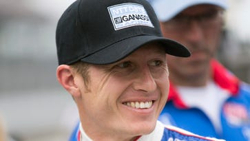 Ryan Briscoe smiles after his May 8 qualifying attempt for the Indianapolis 500.