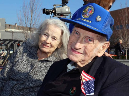 World War II Army veteran Ted Eschels of Birmingham and his wife, Natalie. The two are celebrating 67 years of marriage.