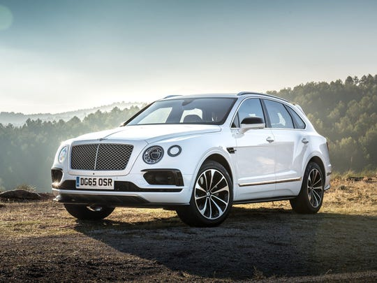 Bentley Bentayga's top speed of 187 m.p.h. makes it the world's fastest SUV.
