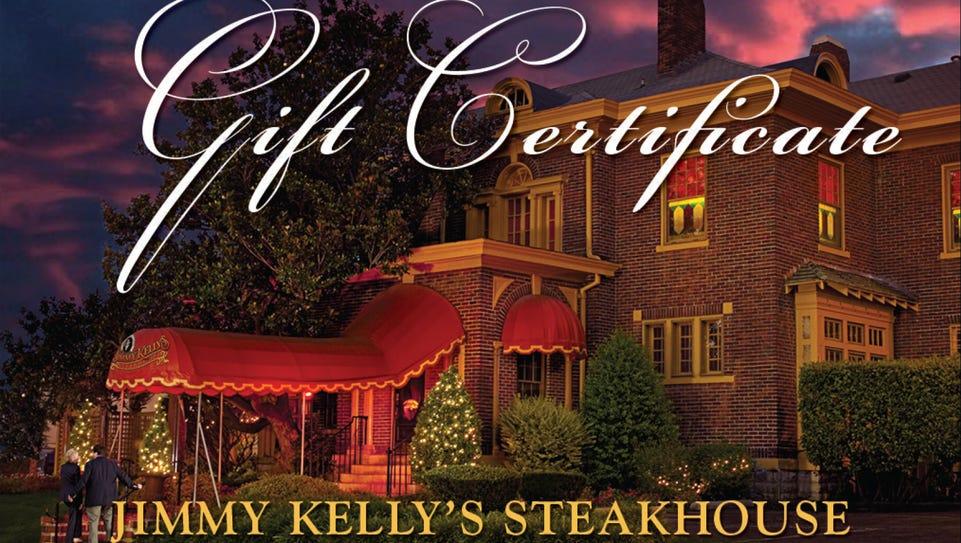 Jimmy Kelly's Steakhouse Gift Certificate