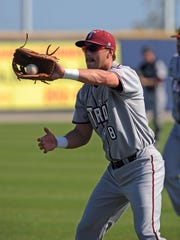Pensacola''s Logan Hill, shown playing for Troy University's in the Cox Diamond Invitational at Blue Wahoos Stadium, made his Double-A debut for the Pittsburgh Pirates affiliate last night, less than two years into his professional baseball career.