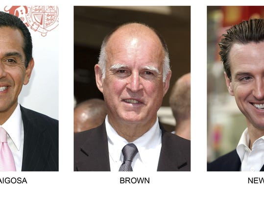 Antonio Villaraigosa, Jerry Brown, Gavin Newsom
