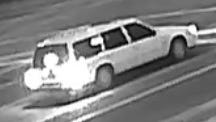 A snapshot of the car suspected to be responsible for the hit-and-run.