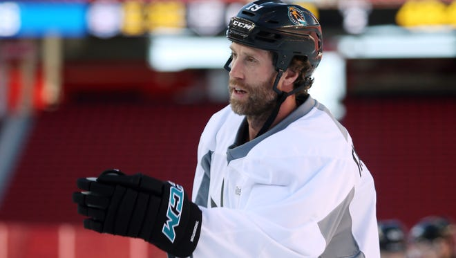 San Jose Sharks center Joe Thornton lost his captaincy but is one of four alternates.