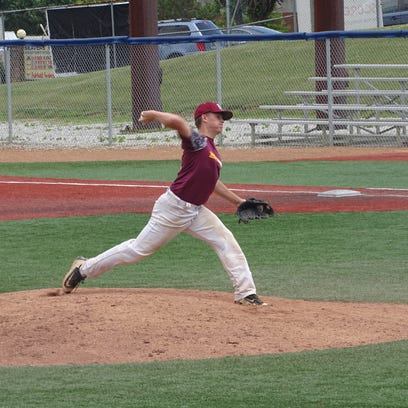 Newark Post 85's Jud Sherrick pitches against Chillicothe