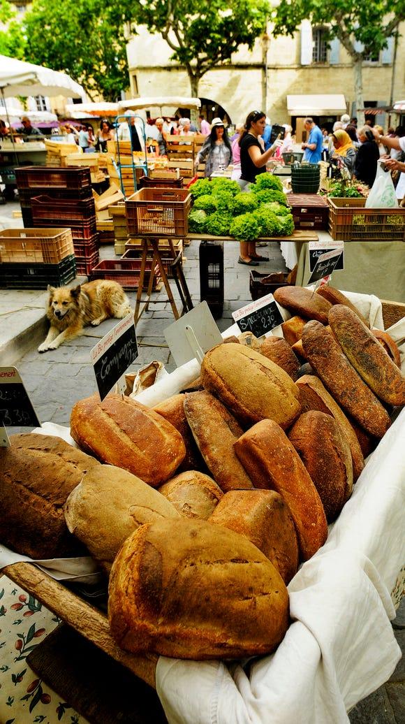 Market in Uzes.