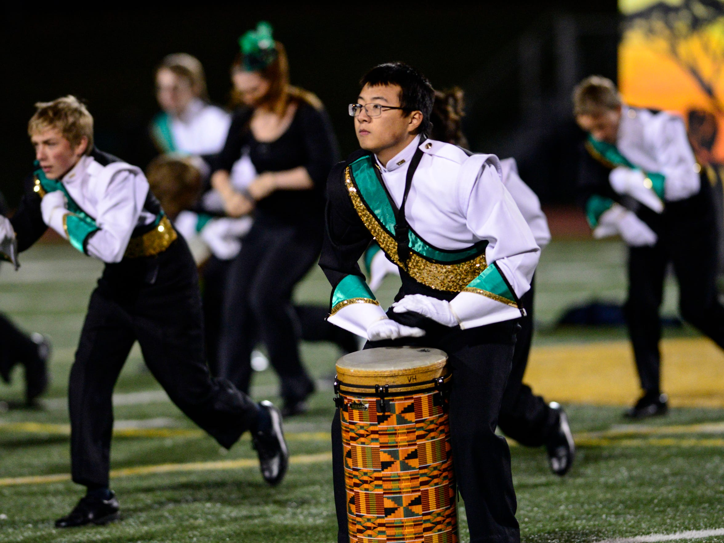 The Vestal Marching Band took center stage during the