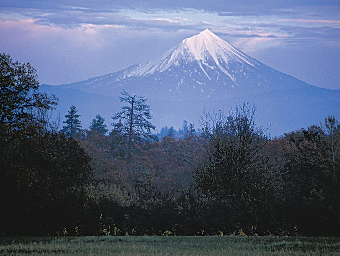 Mount McLoughlin is the highest point in southern Oregon and towers over the Sky Lakes Wilderness.