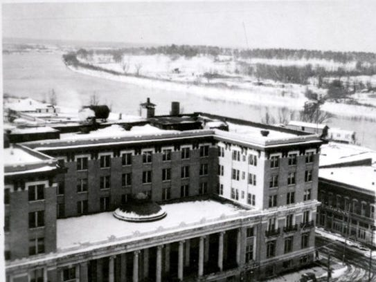 The Bentley Hotel under a cover of snow on December