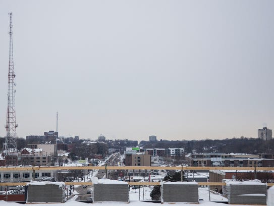 The view of Ingersoll Avenue from the sixth and highest
