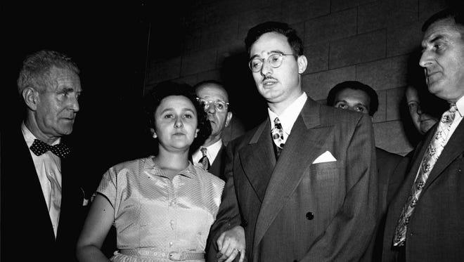 Ethel and Julius Rosenberg in New York in 1951.