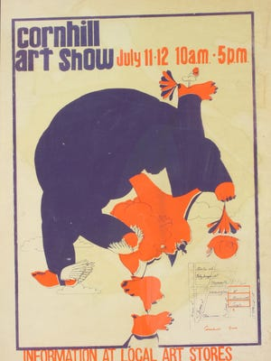 The Corn Hill Arts Festival poster from 1970. The missing 1971 version is thought to be similar in style.