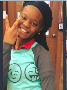 Malaysia Williams, 15, is reported missing.