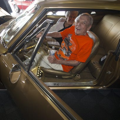 Herb Leitz, 89, of Scottsdale, and his wife, Joan,