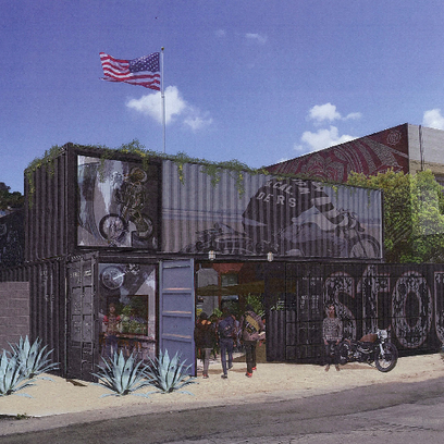 An architectural rendering for the proposed Stout Burgers