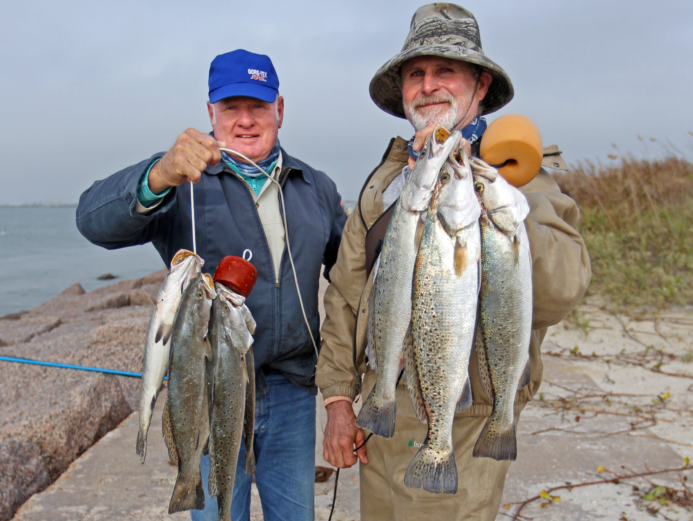 Speckled trout are among the common species caught