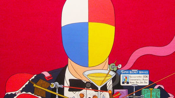 """Super Secret Snooper,"" an acrylic painting on canvas"