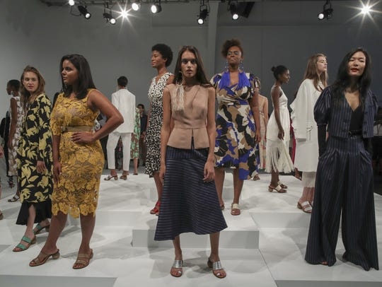 Tracy Reese shows her Spring 2018 collection by using
