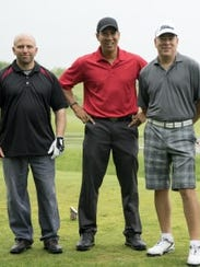 Clemente, center, hit the links at Crystal Springs Golf Club in Hamburg, with Cpl. Brian Bradford and Sgt. Donald Davidson, for the annual Joseph J. Alvino Charity Golf Outing in 2015. Alvino, a former Wayne police officer, died in an off-duty accident at his Totowa home in 1994.