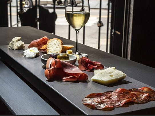 Charcuterie and wine at Virgola.