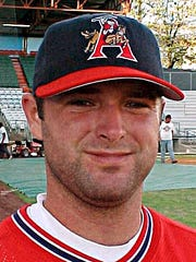 Lance Franks during his days with the Arkansas Travelers.