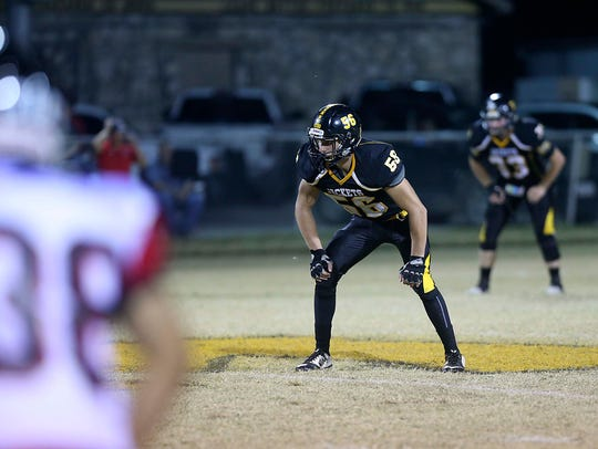 Menard High School defensive lineman Wyatt Mazac helped the Yellow Jackets enjoy a remarkable turnaround in 2017.
