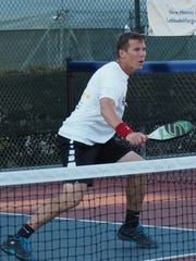 Rob Davidson of Team Selkirk won gold in the Brigham City Memorial Pickleball Tournament on May 27, 2018.