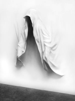"Daniel Arsham's ""Hooded Figure"" is a recent work. An exhibit opens Friday at Contemporary Arts Center."