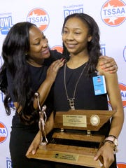 Riverdale's Anastasia Hayes is congratulated by her
