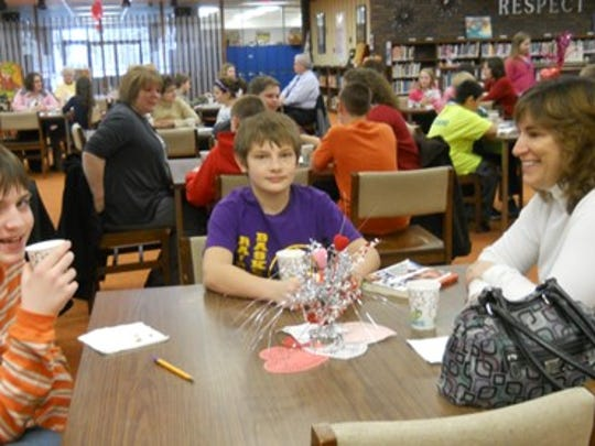 L.B. Clarke students and families during Community Read Week.