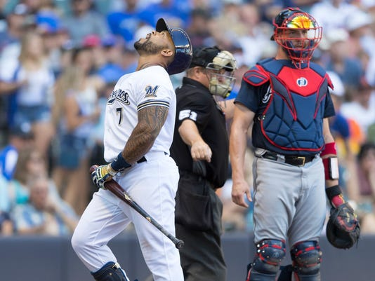 MLB: Atlanta Braves at Milwaukee Brewers
