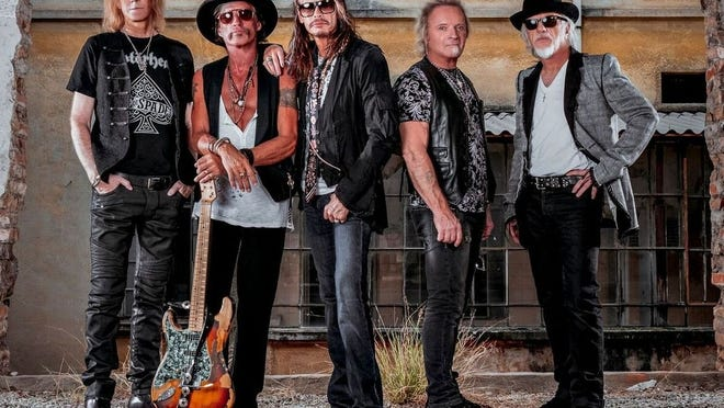 Aerosmith in a 2019 band photo.