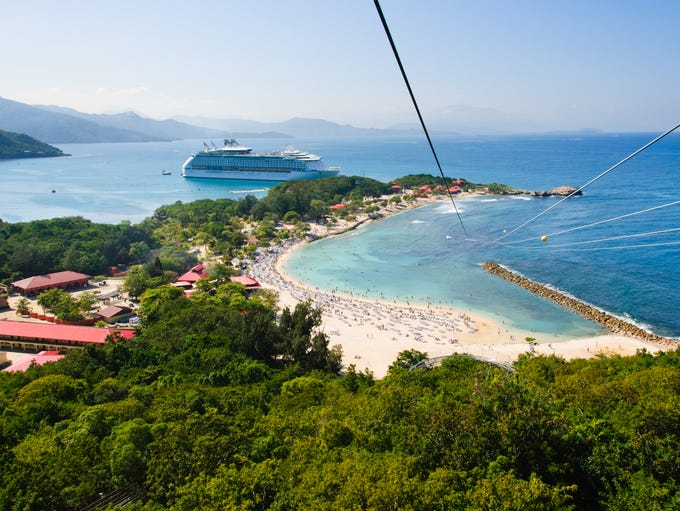 Labadee, Haiti: The longest overwater zip-line in the