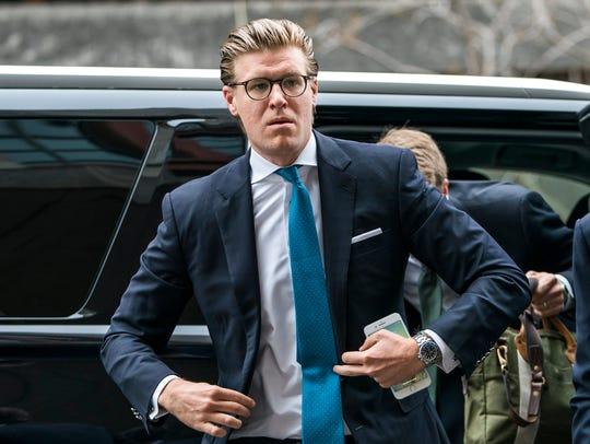 Lawyer  Alex Van Der Zwaan walks into the Washington