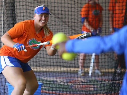 Moorpark High graduate Amanda Lorenz has been a steady and smart hitter with power ever since putting on the University of Florida uniform.