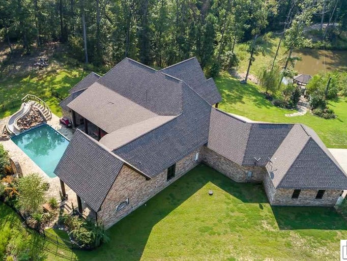 The home for sale at 342 Lea Drive offers 4.8 acres